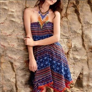 Anthropologie Maeve Urcos Tribal Strapless Dress